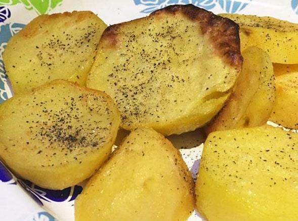 easy roasted potato slices