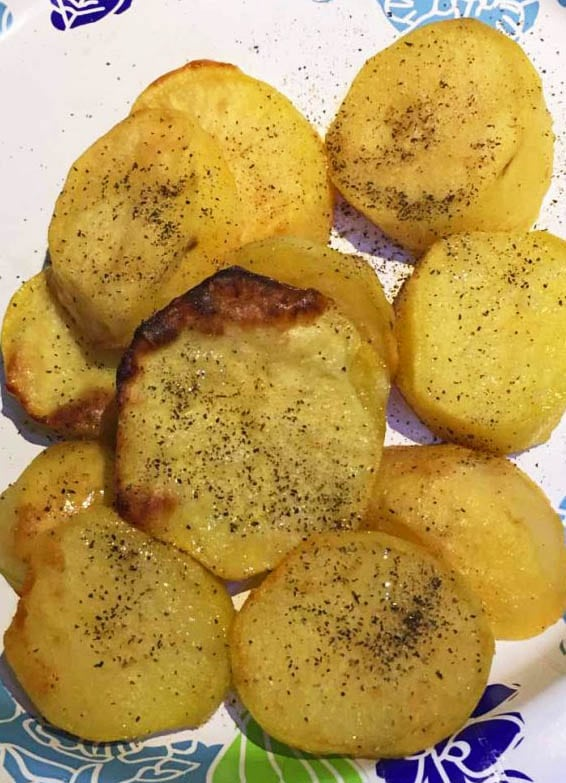 oven roasted potato slices