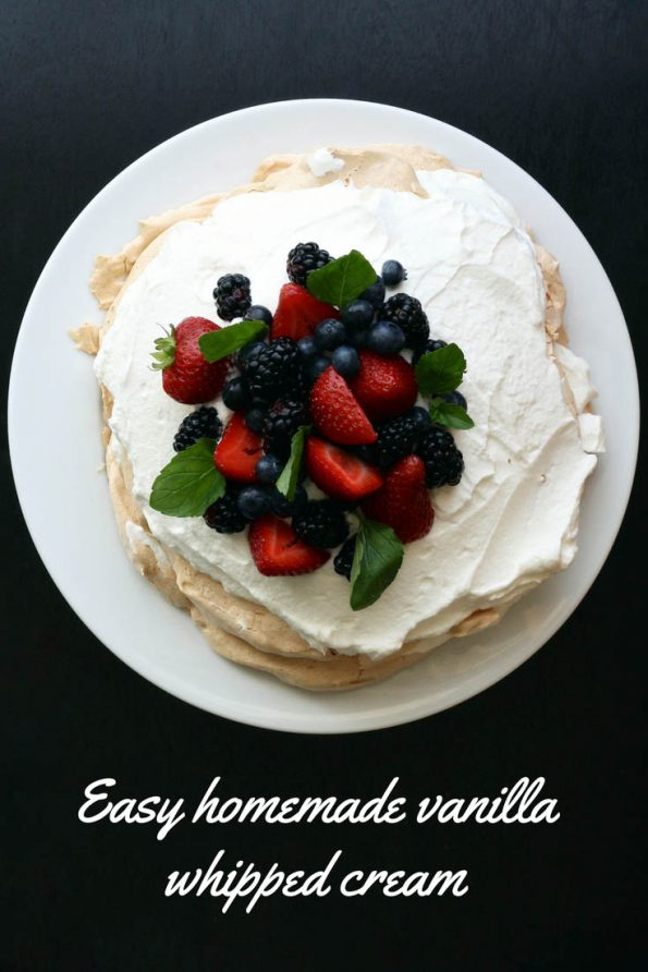 simple whipped cream recipe vanilla