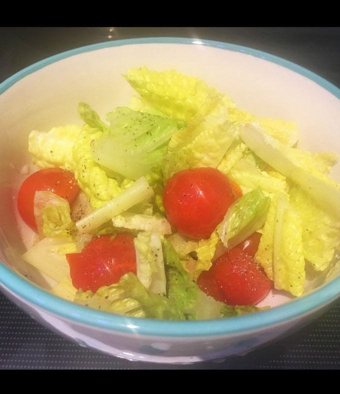 Lettuce Tomato Salad Recipe – Romaine Lettuce Cherry Tomatoes Salad Recipe