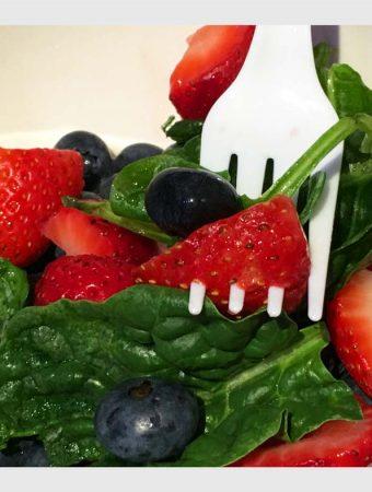 Strawberry Blueberry Spinach Salad Recipe