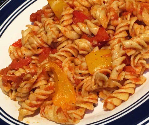 bell pepper pasta recipe vegetarian dinner