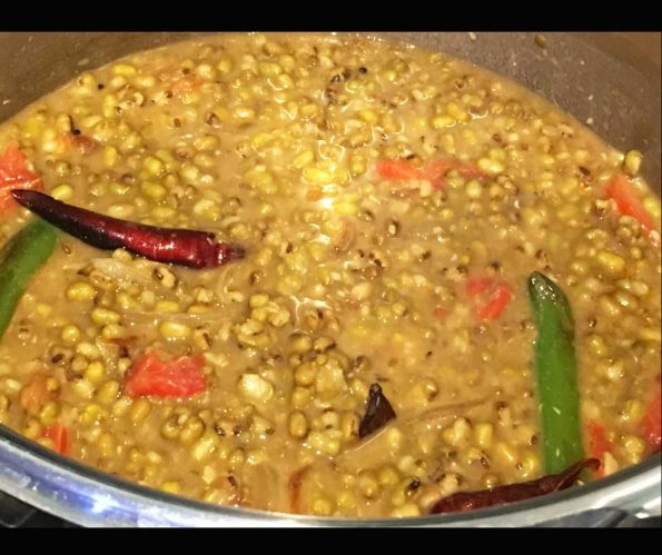 cherupayar curry without coconut for puttu