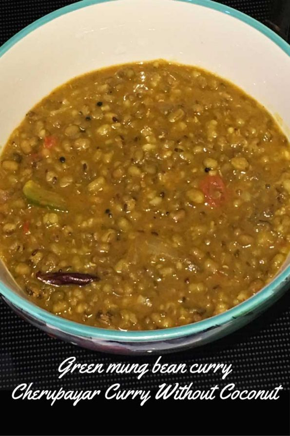 cherupayar curry without coconut for rice