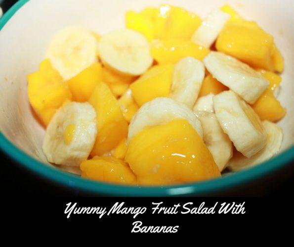easy banana mango fruit salad recipe