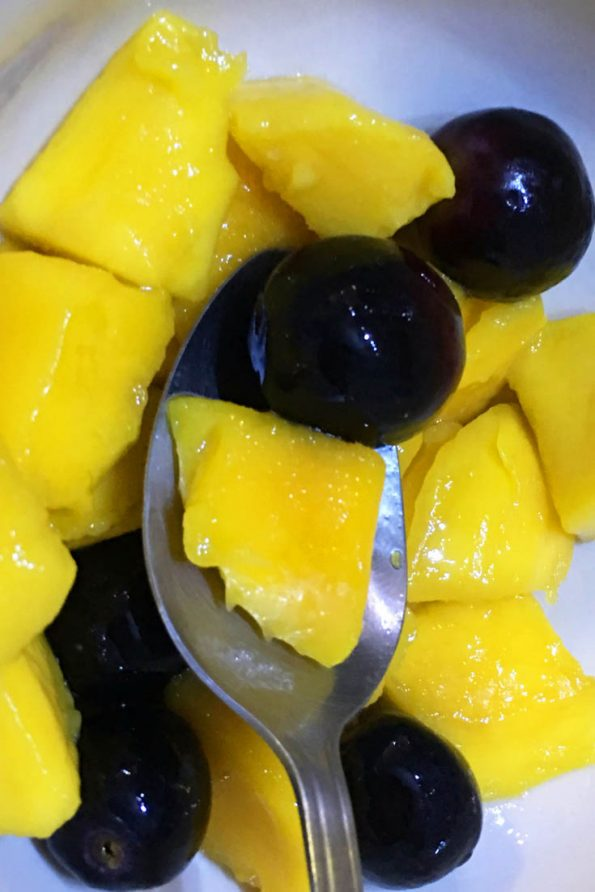 easy mango grape salad recipe for summer