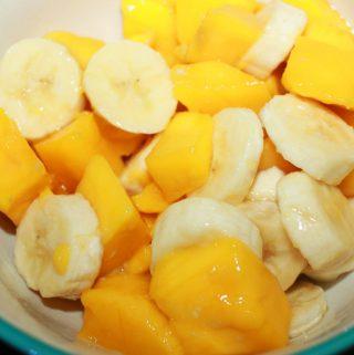 easy mango salad recipe with bananas