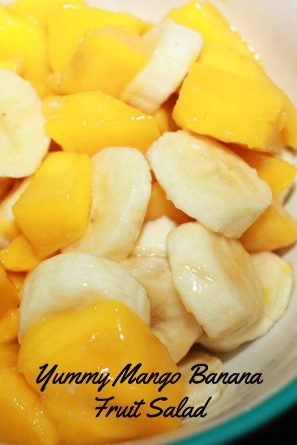 easy mango salad recipe with bananas for summer