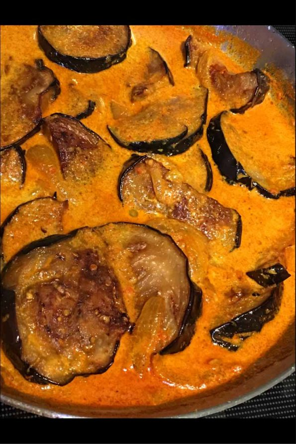 fried eggplant curry indian recipe