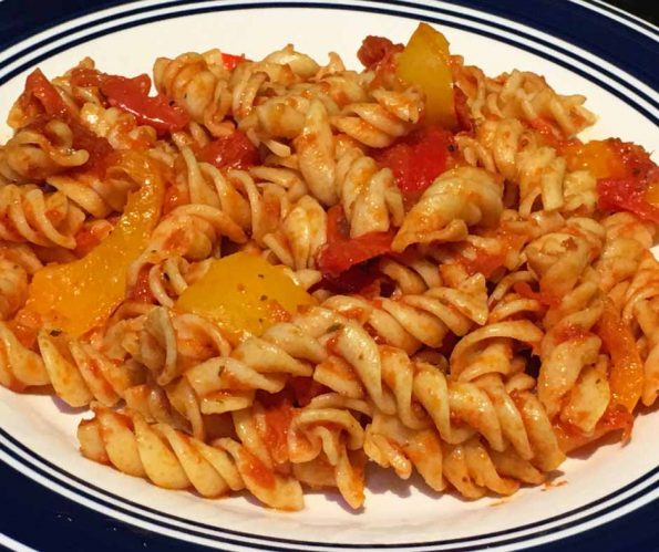 healthy bell pepper pasta recipe dairy free
