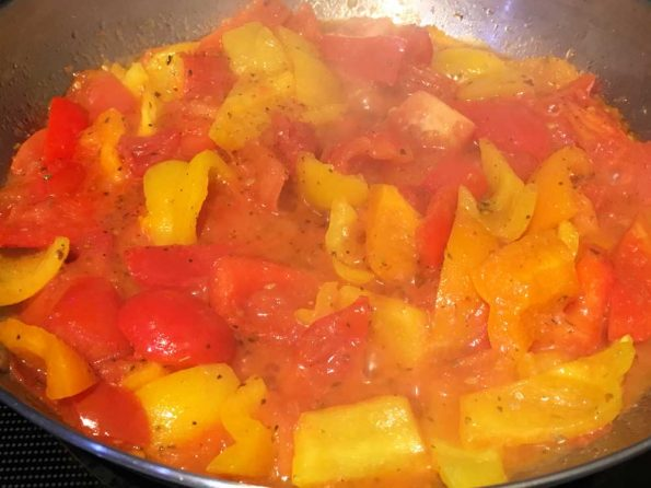 making bell pepper pasta sauce recipe