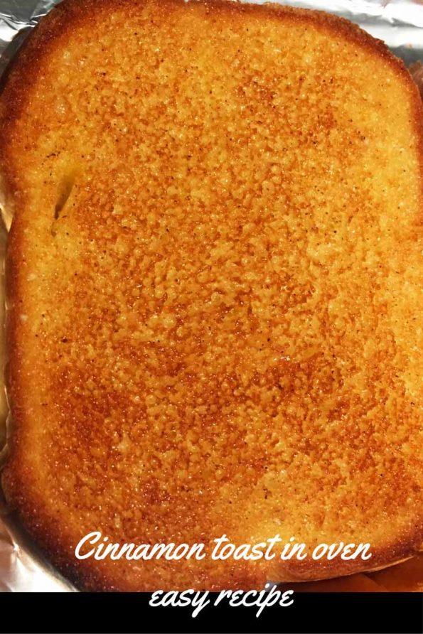 making cinnamon toast in oven recipe