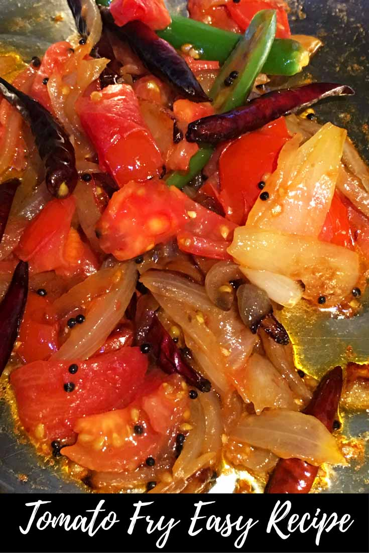 onion tomato fry for chapathi kerala style recipe