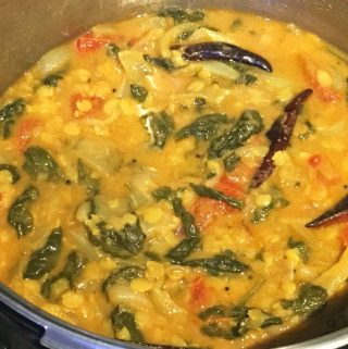 Spinach Sambar Recipe – Palak Sambar Recipe – Spinach Sambar For Rice, Dosa & idli