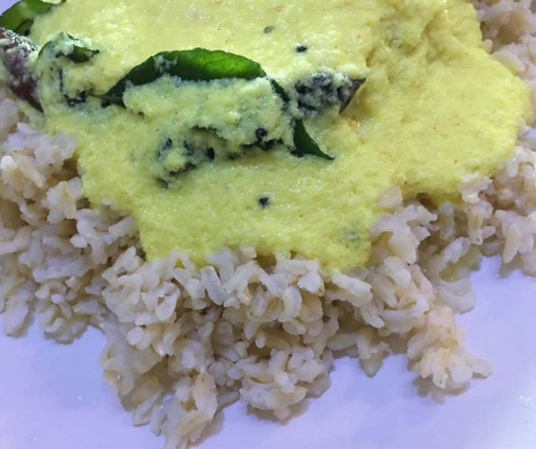 pulissery with rice chorum moru curryum