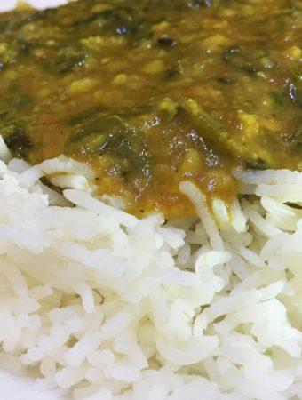 spinach curry indian recipe keerai cheera parippu curry