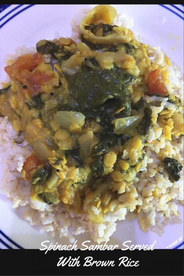 spinach sambar for rice keerai sambar recipe