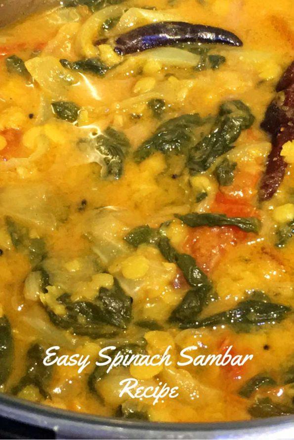 spinach sambar recipe south indian style