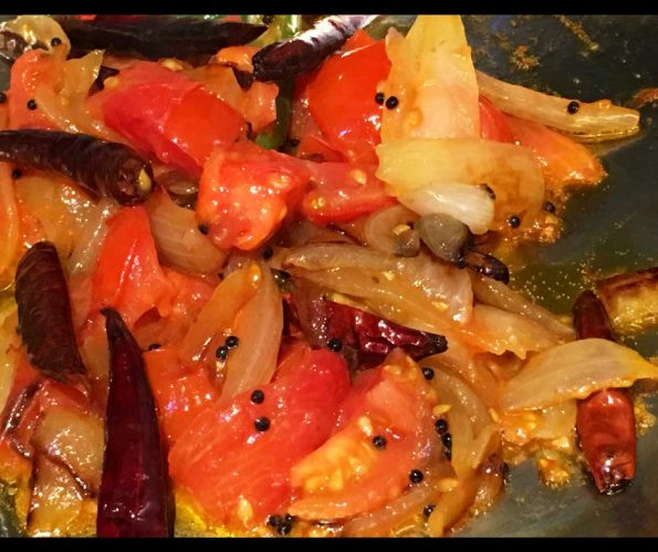 tomato fry for chapathi kerala style recipe
