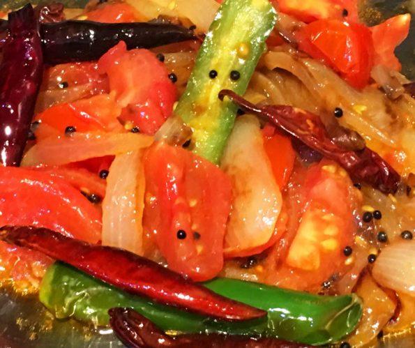 Tomato Fry Kerala Style Recipe – Onion Tomato Fry For Chapathi (Without Gravy)