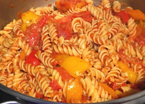 vegan bell pepper pasta recipe without cheese