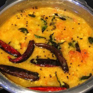 cucumber sambar for rice, dosa, idli