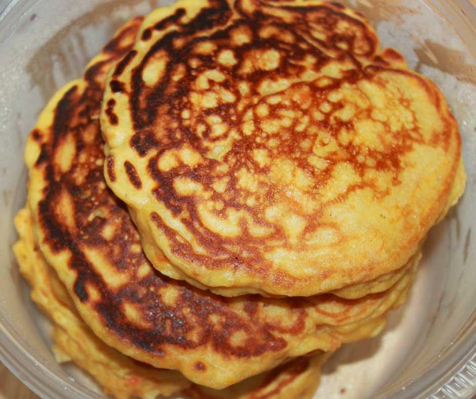 carrot pancakes for breakfast