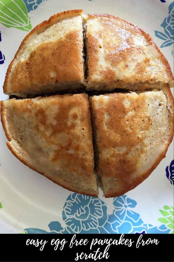 easy egg free pancake recipe homemade