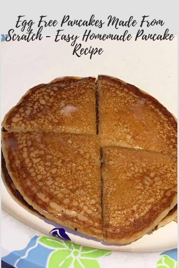 easy homemade pancakes without eggs