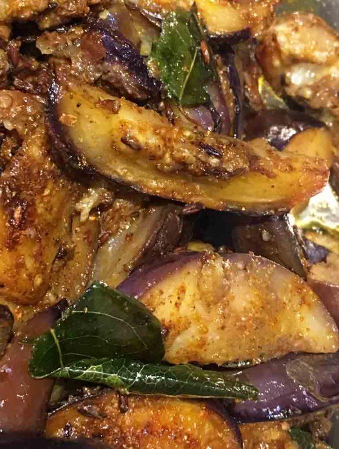 Easy Eggplant Stir Fry Recipe – Eggplant/Brinjal Stir Fry Recipe For Lunch, Dinner