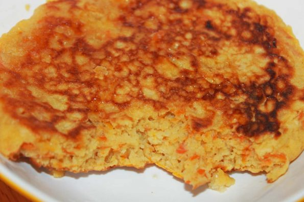 making carrot pancake recipe from scratch