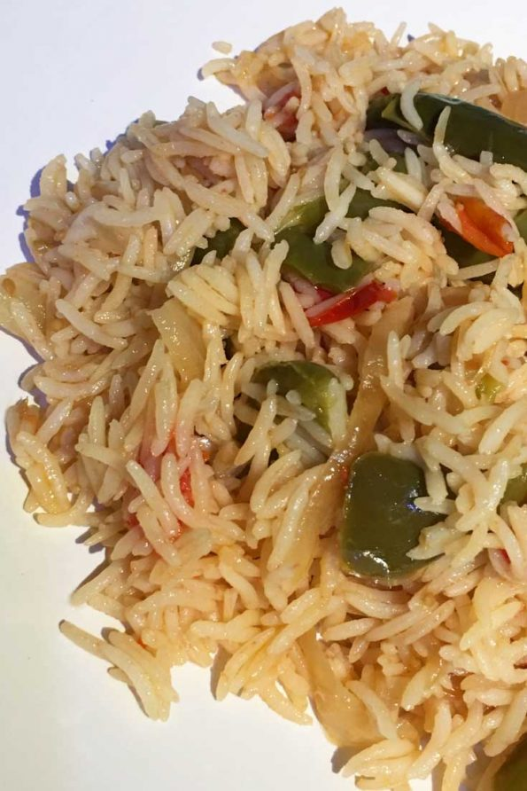 simple tomato rice recipe for dinner lunch