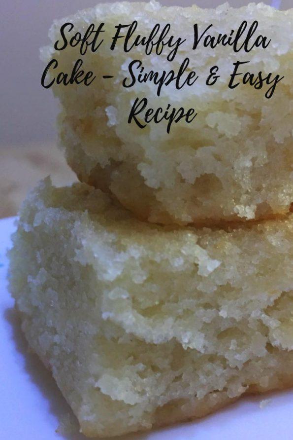 soft vanilla cake recipe spongy