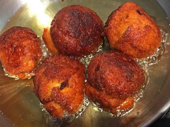 deep fried banana balls recipe