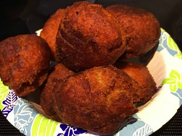 deep fried banana dough balls recipe