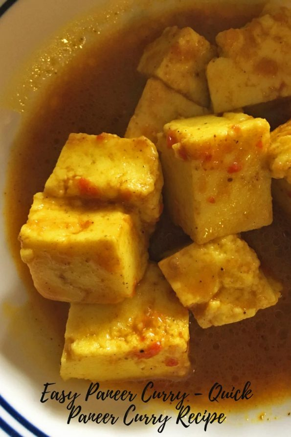 easy quick paneer curry recipe