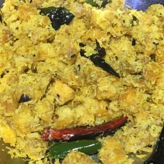 Green Plantains Recipe South Indian Style – Vazhakka Thoran Kerala Recipe – Kaya Thoran Recipe