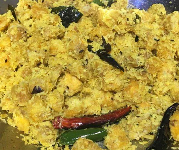 Green Plantains Recipe South Indian Style – Vazhakka Thoran Kerala Recipe – Kaya Thoran Recipe