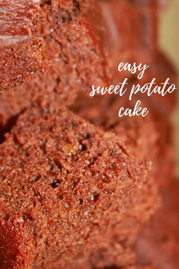 homemade sweet potato cake recipe from scratch