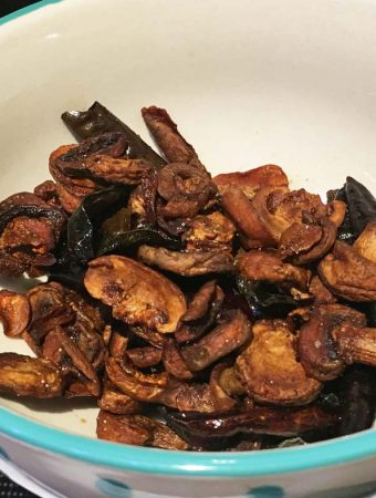 indian mushroom stir fry recipe
