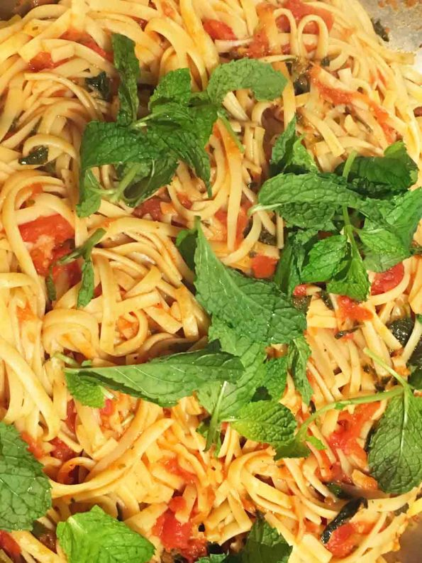lemon mint pasta recipe vegetarian