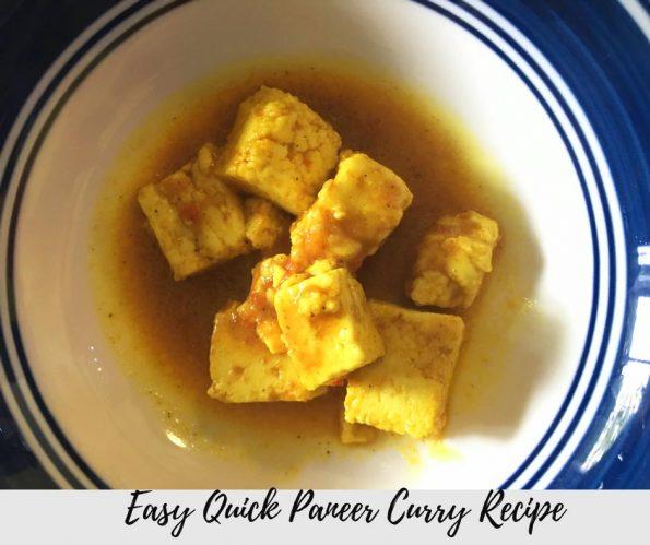 quick paneer curry recipe