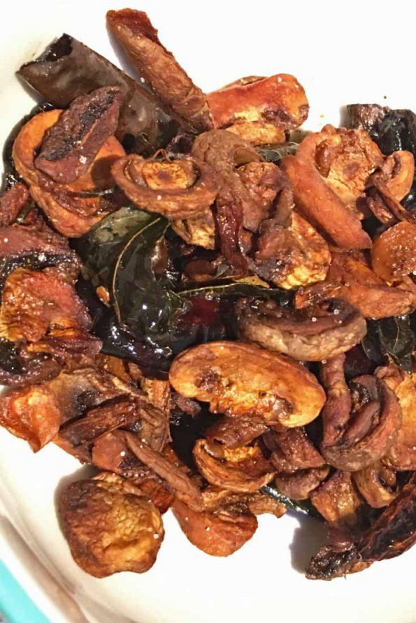 south indian mushroom stir fry recipe