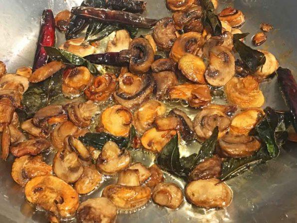 south indian style mushroom stir fry recipe