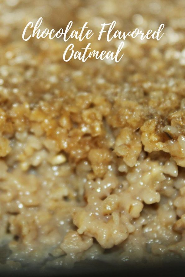 baked chocolate flavored oatmeal recipe