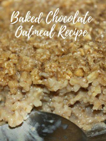 chocolate flavored oatmeal recipe