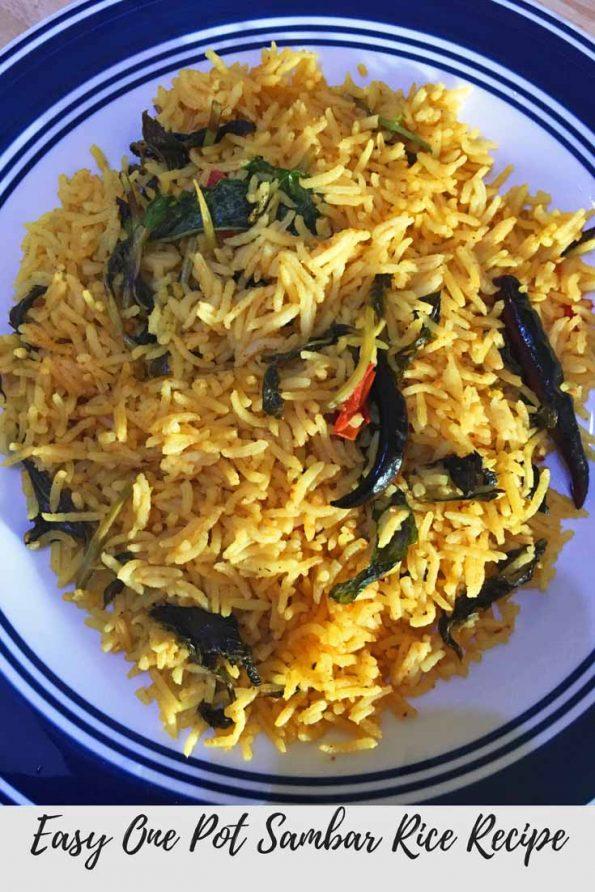 dry sambar rice recipe