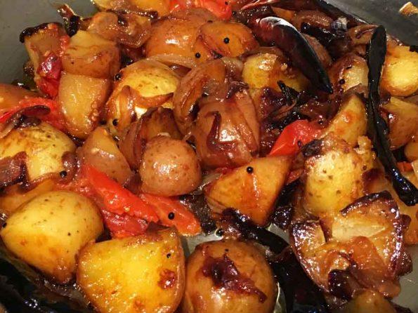 how to pan fry baby potatoes