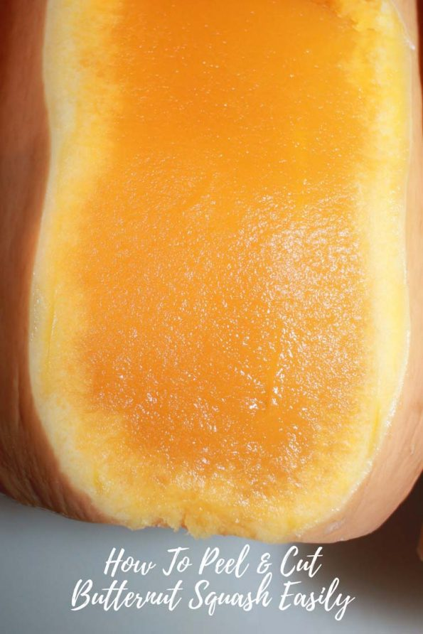 peeling and cutting butternut squash easily