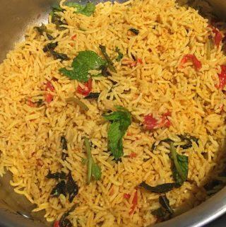 dry sambar rice recipe easy